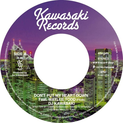 DJ KAWASAKI – DON'T PUT MY HEART DOWN